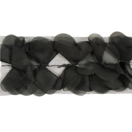 Тесьма арт.TBY-СS-23 шир.23мм цв. 2 черный уп.18,28м