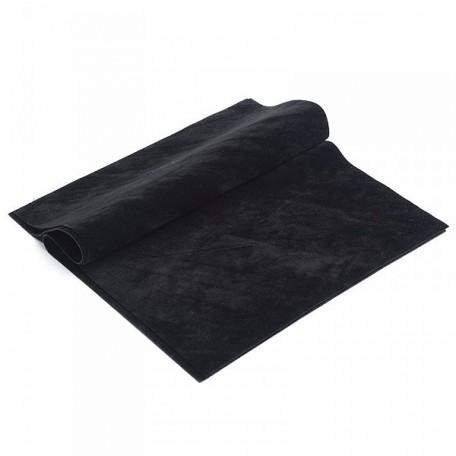 Замша искуственная двухсторонняя арт.КЛ21883 20х30см, черный уп.2листа