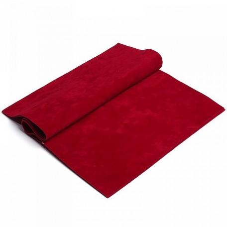 Замша искуственная двухсторонняя арт.КЛ21887 20х30см, т.красный уп.2листа