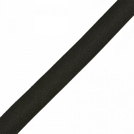 Резинка тканая шир.025мм цв.черный арт.Б.РТ.25.ЧЕР уп.20м А
