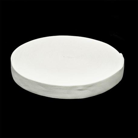 Резинка тканая шир.030мм цв.белый арт.Ф-30мм упак.25м