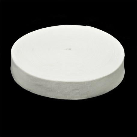 Резинка тканая шир.040мм цв.белый арт.Ф-40мм упак.25м
