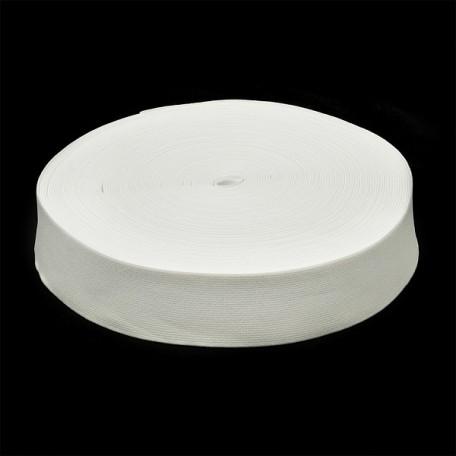 Резинка тканая шир.045мм цв.белый арт.Ф-45мм упак.25м