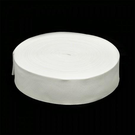 Резинка тканая шир.060мм цв.белый арт.Ф-60мм упак.25м