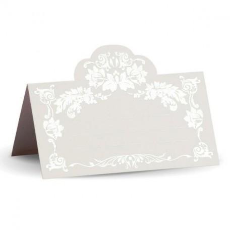 Банкетная карточка, арт.FK.08775-БС белая, тиснение серебро