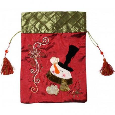 EN.20025 Новогоднее подвесное украшение, мешочек для подарков 'Снеговик' 41см АКЦИЯ!!!