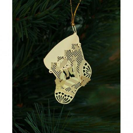 EN.25055 Новогоднее декоративное подвесное украшение из черного окрашенного металла 7х6см