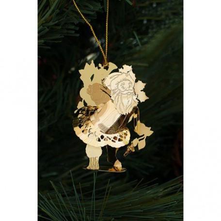EN.25060 Новогоднее декоративное подвесное украшение из черного окрашенного металла 1,6х5,2х6,5с