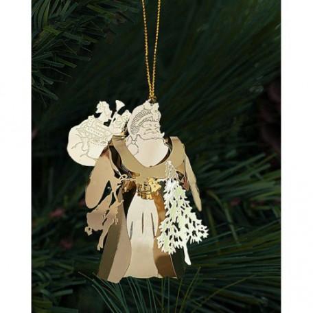 EN.25062 Новогоднее декоративное подвесное украшение из черного окрашенного металла 2,5х6,1х7,4см