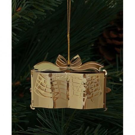 EN.25065 Новогоднее декоративное подвесное украшение из черного окрашенного металла 4х8,1х5,3см