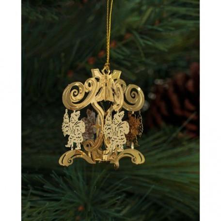 EN.25097 Новогоднее декоративное подвесное украшение из черного окрашенного металла 5,5х5,5х6см