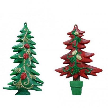 EN.25879 Новогоднее подвесное украшение, пластик A:7x2x12см B:7,6x2,3x12см