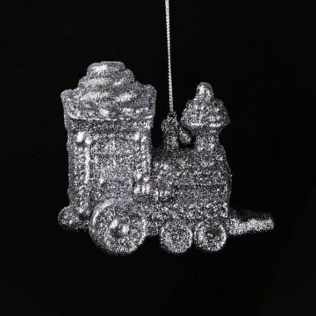 EN.30642 Новогоднее подвесное елочное украшение цв.серебро 11х10см