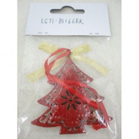 EN.30861 Новогоднее подвесное декоративное украшение из черного окрашенного металла 6,5х1х6,5см