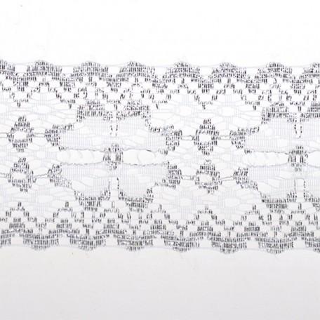 Кружево-трикотаж арт.7с1-г10 (16с) шир.50мм цв.белый/серебро уп.50м