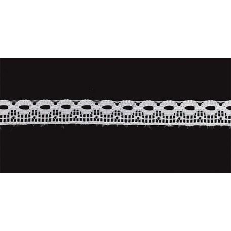 Кружево-трикотаж арт.7с1-г10 шир.15мм цв.белый уп.50м