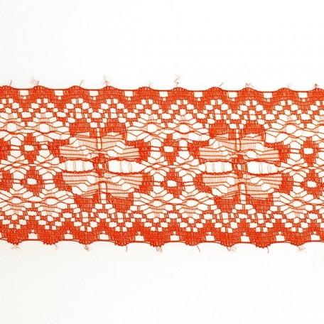 Кружево-трикотаж арт.7с1-г10 шир.50мм цв.красный уп.50м