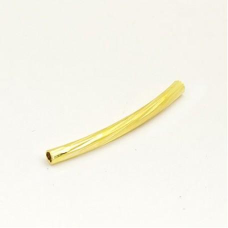 Трубочка для бус рефленая арт.TBY-Тр-2-25 ( JA-28 ) 2*25мм цв. золото