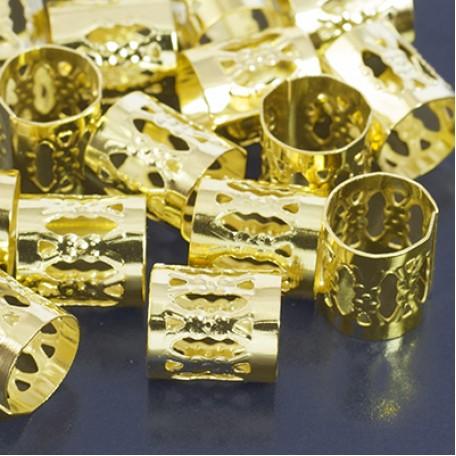 Бусины Трубочки арт. МБ.УТ29369 цв.золото 9х8 мм 100шт