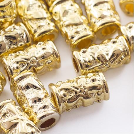 Бусины Трубочки металл арт. МБ.УТ27624 цв.золото 10х5,5 мм 20шт