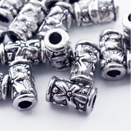 Бусины Трубочки металл арт. МБ.УТ27625 цв.ант.серебро 10х5,5 мм 20шт