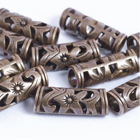 Бусины Трубочки металл арт. МБ.УТ29372 цв.медь 23х8 мм 10шт