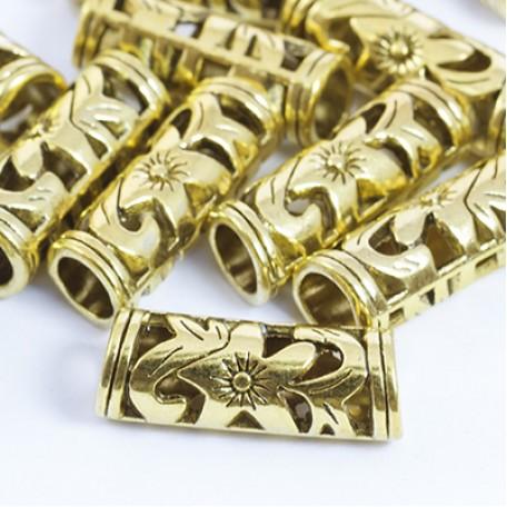 Бусины Трубочки металл арт. МБ.УТ29373 цв.золото 23х8 мм 10шт
