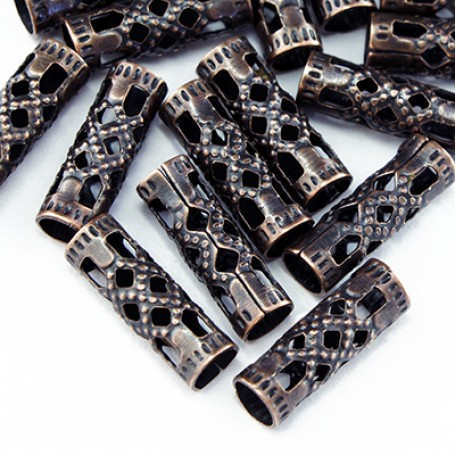 Бусины Трубочки металл арт. МБ.УТ3373 цв.медь 13х3 мм 50шт.