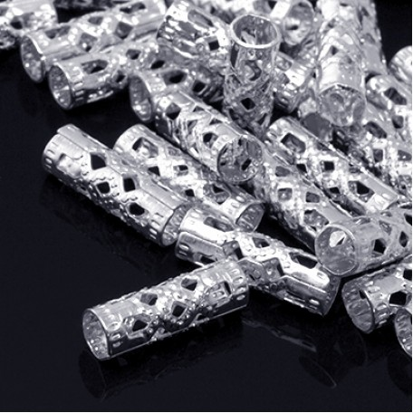 Бусины Трубочки металл арт. МБ.УТ5764 цв.платина 13х3 мм 50шт