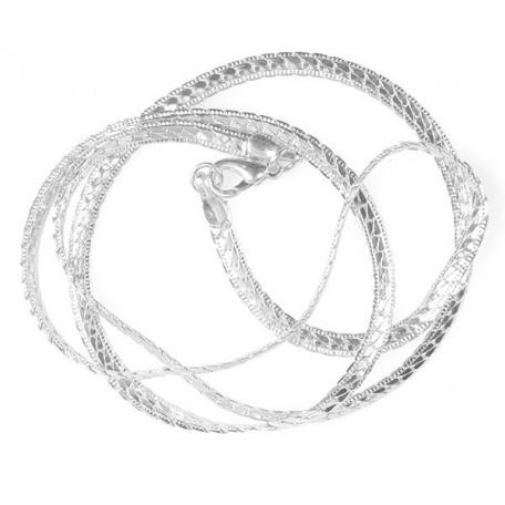 Цепочка с замком арт.TBY-107 50см цв.серебро