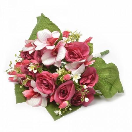 Букет розы и орхидеи арт.САД.L31-01 цв.розовый L=40 см