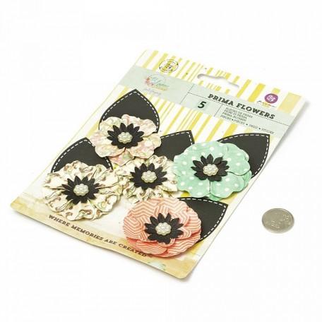 Бумажные цветы Blossom арт.575199 7,6 см 5 шт Неповторимые