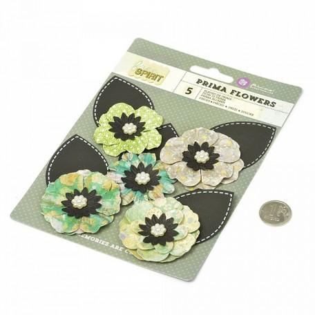 Бумажные цветы Free Spirit арт.574260 7,6 см 5 шт Расклешенные