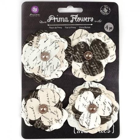 Бумажные цветы Prima арт.571184 Parola №1 4 шт 2,5-7,6см