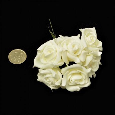 Цветы латексные 4см арт.ОИ.FX2 цв.H02 уп.72 шт.