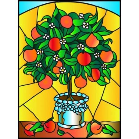 Набор для создания витража 'Колор Кит' арт.КК.HG001 Апельсиновое дерево 43х53