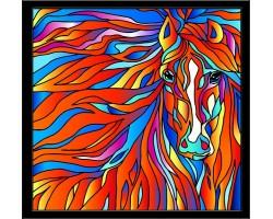 Набор для создания витража 'Колор Кит' арт.КК.HS004 Огненная лошадь 43х53 см