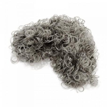 Волосы для кукол Creativ арт.50054 кудрявые цв.светло-серые уп.15 гр