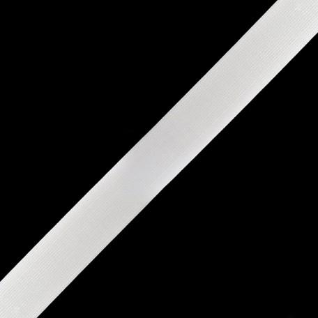 Резинка вязаная арт.ТВ-25мм цв.белый упак.40м
