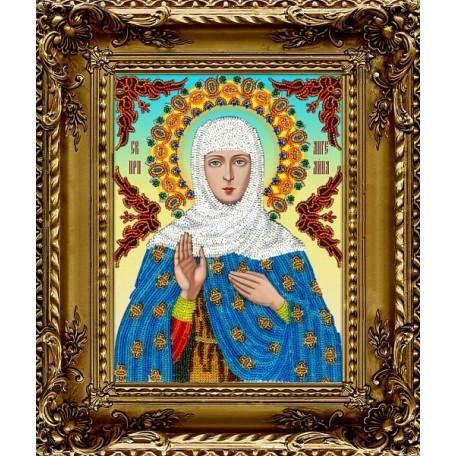 Набор для вышивания бисером 'ВЫШИВАЕМ БИСЕРОМ' арт.A22 Святая Ангелина 19,5х26 см