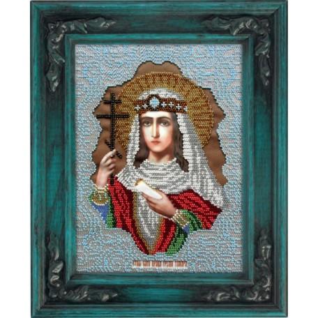 Набор для вышивания бисером 'ВЫШИВАЕМ БИСЕРОМ' арт.L100 Святая Тамара 19x26 см