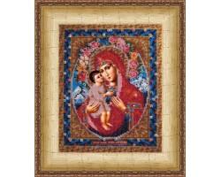 Набор для вышивания Вышивальная мозаика арт. 003ПИ.Божия матерь Жировицкая 19х24см