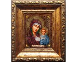 Набор для вышивания Вышивальная мозаика арт. 005ПИ.Божия матерь Казанская (путная) 6х7см