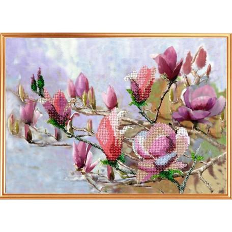 Набор для вышивания Вышивальная мозаика арт. 0090ЦВ Акварельные цветы 'Магнолиевый рай'