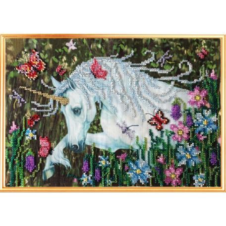Набор для вышивания Вышивальная мозаика арт. 0091ЦВ Единорог и духи леса