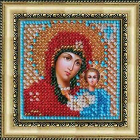 Набор для вышивания Вышивальная мозаика арт. 011ПМИ Божия Матерь Казанская 6,5х6,5см