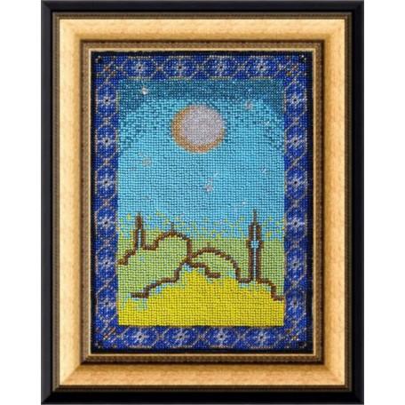 Набор для вышивания Вышивальная мозаика арт. 012РВ.'За рассветом всегда наступает закат...' 18.5х25с