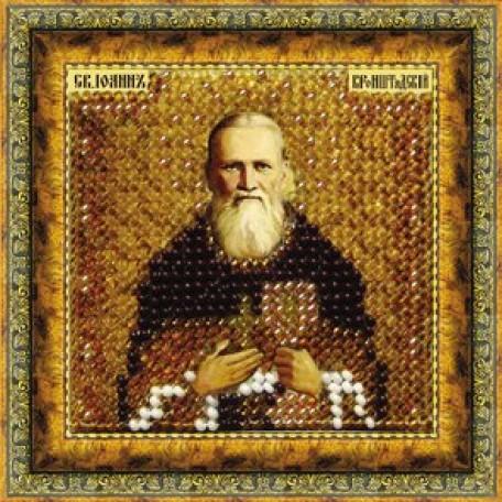 Набор для вышивания Вышивальная мозаика арт. 014ПМИ.Св.Прав.Иоанн Кронштадский 6,5х6,5см