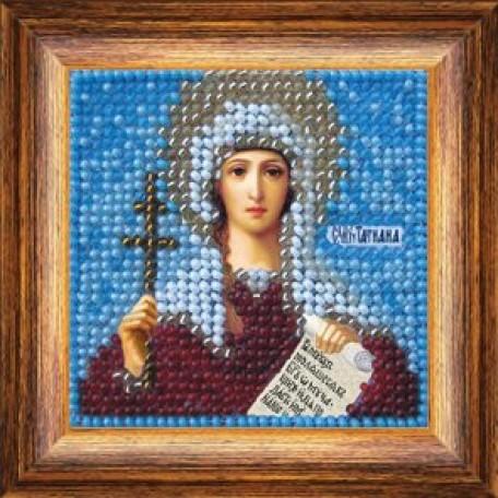 Набор для вышивания Вышивальная мозаика арт. 017ПМИ.Св.Мученица Татиана 6,5х6,5см