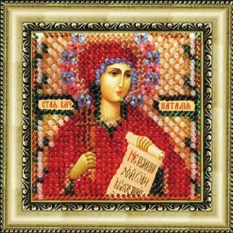 Набор для вышивания Вышивальная мозаика арт. 021ПМИ.Икона Св.Влмч.Наталия 6,5х6,5см